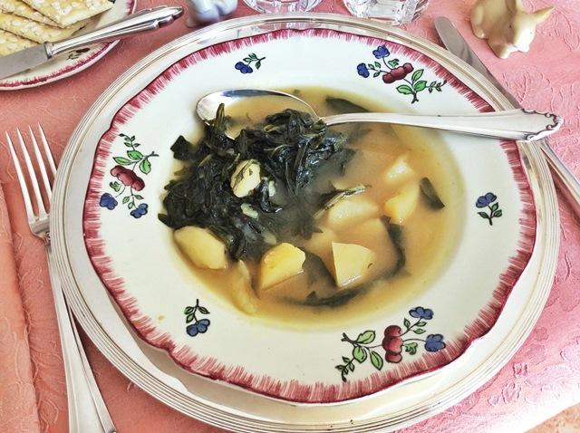 minestra di cicoria e patate